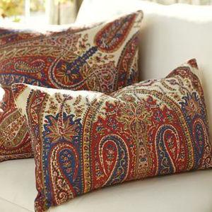 Pottery Barn Aurora Paisley Lumbar Pillow Cover